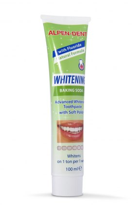 Альпен Дент відбілююча зубна паста з содою